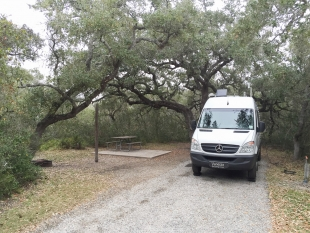 Goose Island State Park campsite