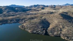 Patagonia Lake State Park drone view, north side of lake