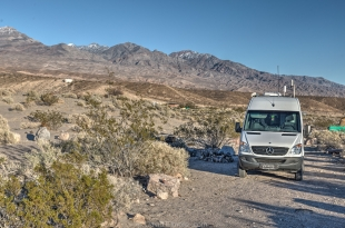 Our campsite at Mesquite Springs, Death Valley National Park