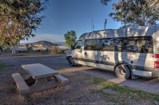 Our campsite at Boulder Beach Primitive campground, Lake Mead National Recreational Area