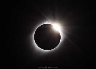 Diamond ring after total 2017 solar eclipse at Glendo State Park, Wyoming
