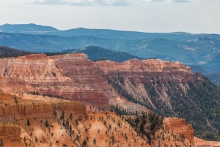 Grand view of Cedar Breaks National Monument, Utah