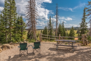 Camping spot 13 at Point Supreme Campground, Cedar Breaks National Monument, Utah