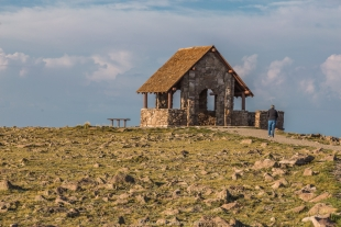 CCC shelter on top of Brian Head Peak, near Cedar Breaks National Monument, Utah