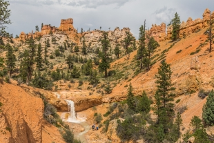 Falls on Mossy Cave Trail, Bryce Canyon National Park, Utah