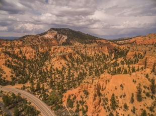 Drone view, Red Canyon, Dixie National Forest, Utah