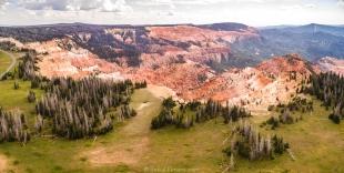 Drone view of Cedar Breaks National Monument, Utah