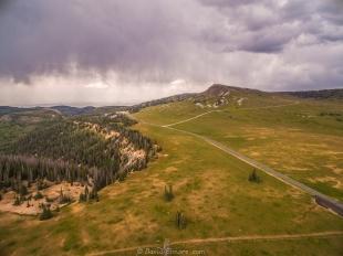 Drone view of Brian Head Peak, near Cedar Breaks National Monument, Utah