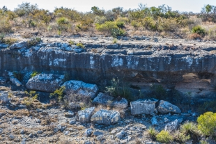 Boulders from the canyon wall, Canyon Rim Trail, Seminole Canyon State Park, Texas