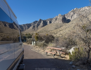 Vanessa at Pine Springs Campground, Guadalupe Mountains National Park, Texas