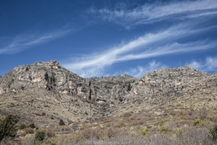 Mountains and sky along Smith Spring Trail, Guadalupe Mountains National Park, Texas