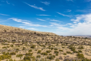 Hillside and sky along Smith Spring Trail, Guadalupe Mountains National Park, Texas