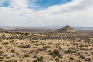 Nipple Hill viewed from Smith Spring Trail, Guadalupe Mountains National Park, Texas