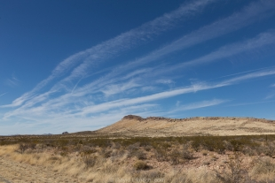 Clouds and mountain north of Hachita, New Mexico
