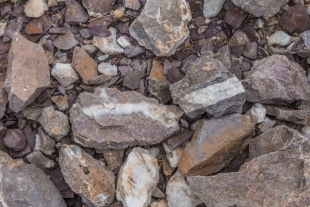 Quartz layers in rock, Crystal Hill Area, Kofa National Wildlife Refuge, Arizona