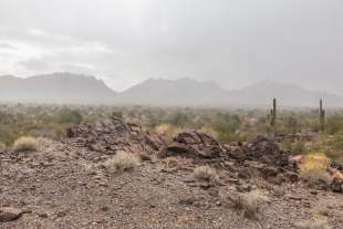 Rain approaching, Crystal Hill Area, Kofa National Wildlife Refuge, Arizona