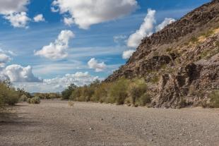 Wash at start of hike around Crystal Hill, Kofa National Wildlife Refuge, Arizona
