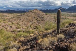 View south along hike around Crystal Hill, Kofa National Wildlife Refuge, Arizona