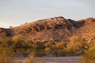 Late sun on Crystal Hill area, Kofa National Wildlife Refuge, Arizona