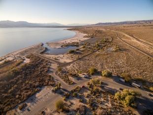 Drone view of Salton Sea SRA, Mecca, California