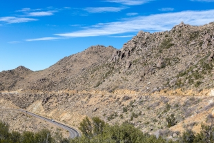Route 89 on Granite Mountain southwest of Prescott, Arizona