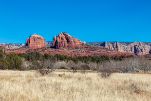 Cathedral Mountain viewed from visitor center, Red Rock State Park, Sedona, Arizona