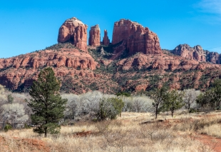 Cathedral Mountain viewed from Jones Lane near Sedona, Arizona