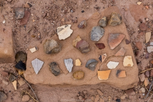 Pottery shards, Homolovi State Park, Winslow, Arizona
