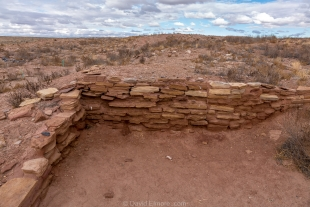 Restored dwelling site I, Homolovi State Park, Winslow, Arizona