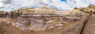 Badlands panorama, Blue Mesa Trail, Petrified Forest National Park, Arizona