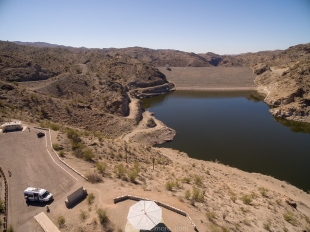 Bill Williams Overlook and dam, Alamo Lake State Park, Arizona