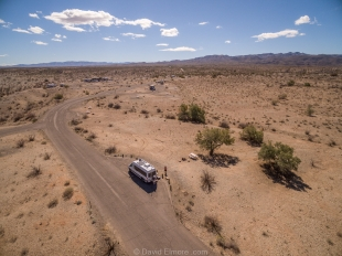 Drone view Campground loop E, Alamo Lake State Park, Arizona