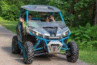 ATV in Sailor Lake NF Campground, Chequamegon-Nicolet National Forest, Park Falls, Wisconsin