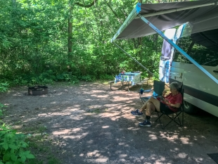 Campsite 31 at Lake Wissota State Park, Chippewa Falls, Wisconsin