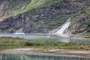 Nugget Falls at Mendenhall Lake