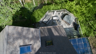 Our back deck from above