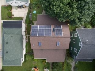 Solar panels on Steven's house