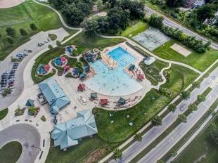 Aerial view of Goodman Pool near Madison, WI