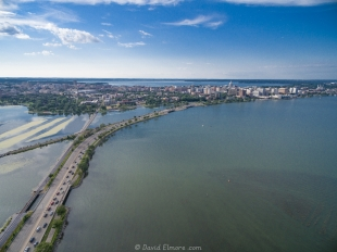 Lake Monona and Madison from above
