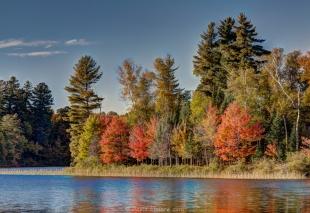 Fall colors, Long Lake, Wisconsin