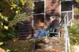 Janet Elmore relaxing