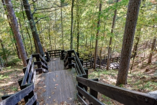 Stairs to tower at Copper Falls State Park, Wisconsin