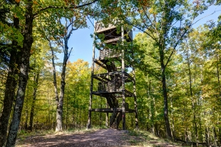Lookout tower at Copper Falls State Park, Wisconsin