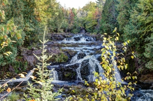 Brownstone Falls at Copper Falls State Park, Winconsin