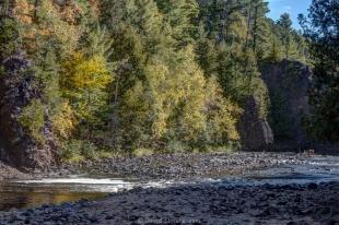 Fall colors near Devill's Gate, Copper Falls State Park, Winconsin