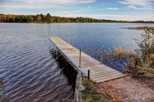 Dock at East Twin Lake Campground, Wisconsin