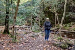 Janet near the falls