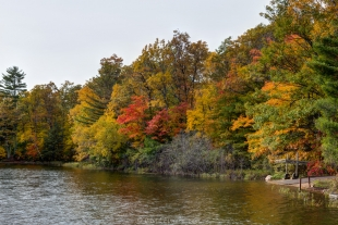 Fall colors at Two Lakes Campground, Drummond, Wisconsin