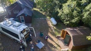 Drone takeoff from Steven's cabin