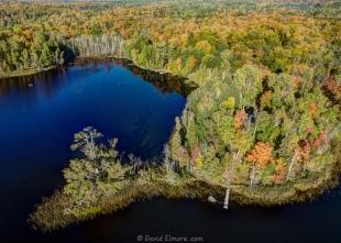 Elmore point on Long Lake, Wisconsin